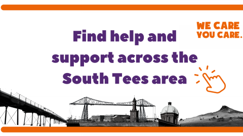 Find help and support across the South Tees area banner