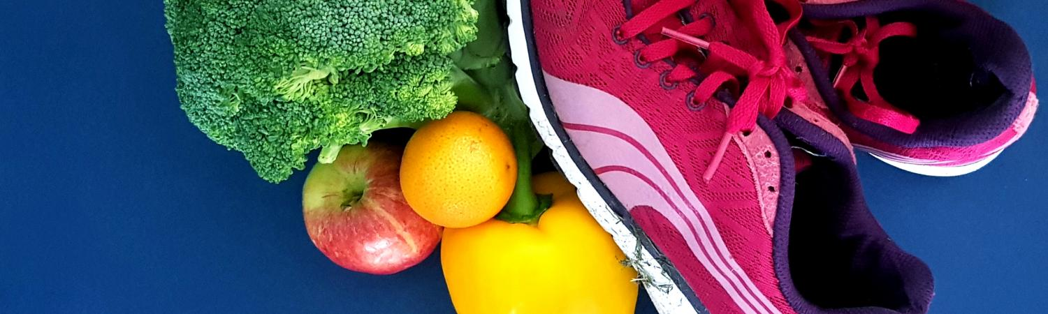 Fruit, veg and trainers